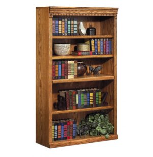 Traditional Oak Veneer Bookcase