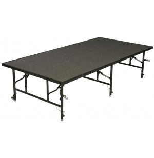 48 Inch Deep Transfold Stage, Carpeted