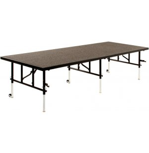 36 Inch Deep Transfold Stage, Carpeted