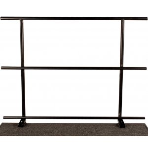 Guard Rail with Chair Stop, 36 Inches Long