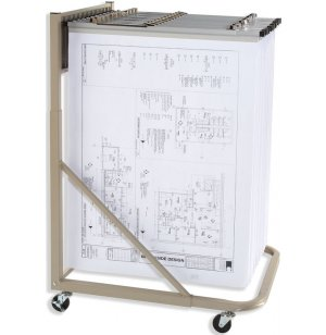 Mobile Blueprint Storage Rack