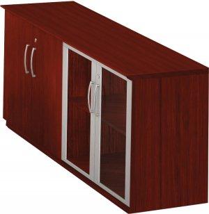 medina low office storage cabinet with doors myl 7320 wooden storage cabinets. Black Bedroom Furniture Sets. Home Design Ideas