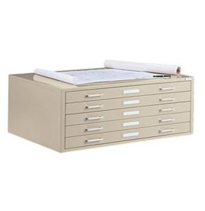 5-Drawer Flat File Cabinet for 24 x 36 Sheets