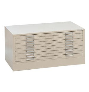 10-Drawer Flat File Cabinet for 24 x 36 Sheets