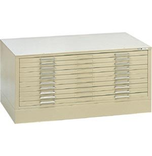 10-Drawer Flat File Cabinet for 36 x 48 Sheets