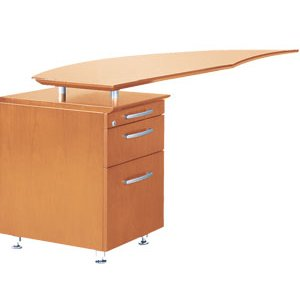 Napoli Curved Office Desk Return, Left