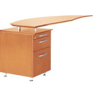 Napoli Curved Office Desk Return, Left