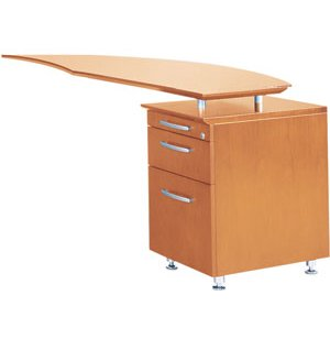 Napoli Curved Office Desk Return, Right
