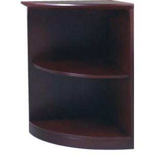 Corsica & Napoli 2-Shelf Quarter Round Bookcase