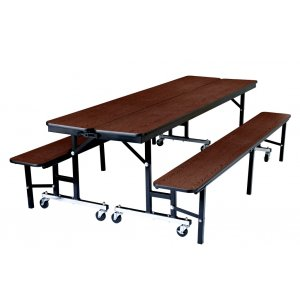 Convertible Bench Cafeteria Table - Particleboard, T-Mold
