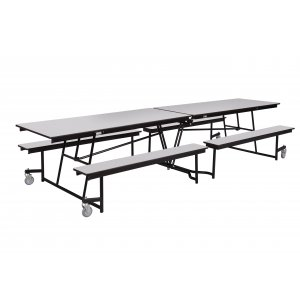 Antimicrobial Mobile Cafeteria Table - MDF, ProtectEdge