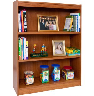 Reinforced Shelf Laminate Bookcase with 2 Shelves
