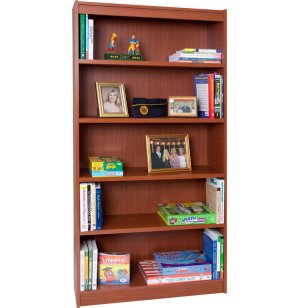 Reinforced Shelf Laminate Bookcase w/4 shelves
