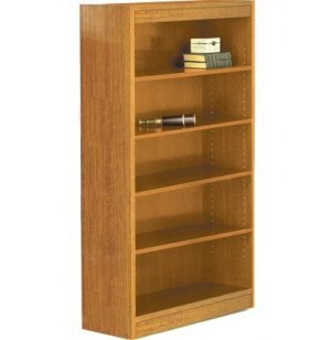 Reinforced Shelf Laminate Bookcase with 3 Shelves