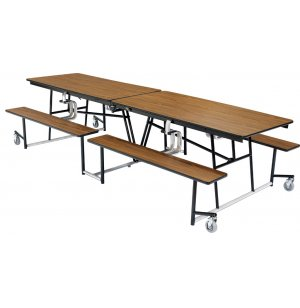 Mobile Cafeteria Bench-Table, Plywood Core