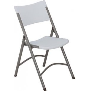 Blow Molded Folding Chair, White