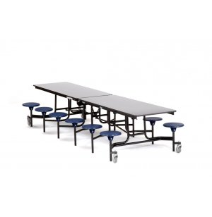 NPS Cafeteria Table with 12 Stools, Plywood