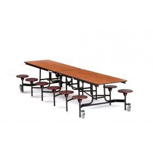 NPS Cafeteria Table with 12 Stools, Plywood, ProtectEdge