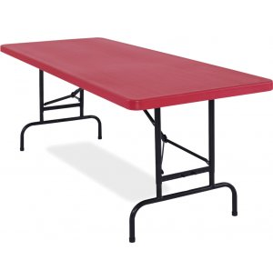 Colored Adj-Ht Blow-Molded Table