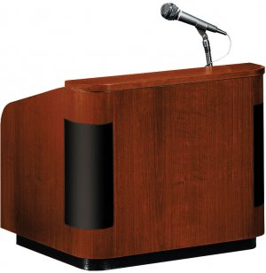 Wood Veneer Table Lectern w/Sound Closeout