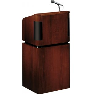Veneer Full Floor Sound Lectern with Wireless Mic