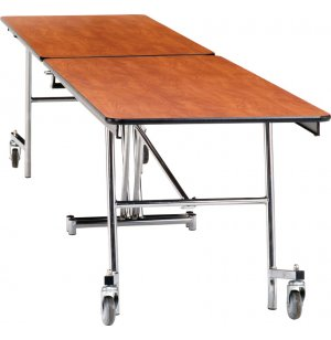 Folding Cafeteria Table - Plywood Core, Chrome