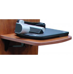 Flip-Up Shelf for AV Lectern