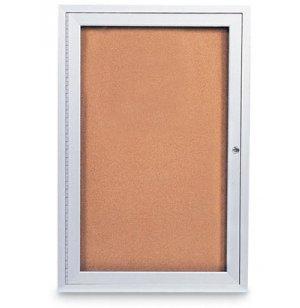 Outdoor Enclosed Cork Board