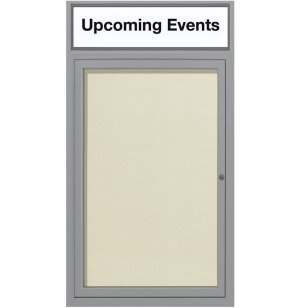 Weather-Resistant Enclosed Vinyl Board w/Header