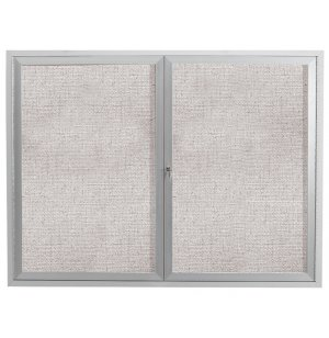 Weatherproof Illuminated Vinyl Tack Board 2-Door