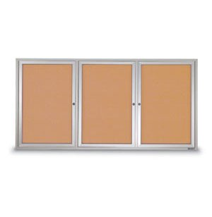 Outdoor Enclosed Illuminated Cork Board