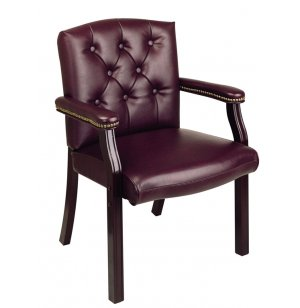 Guest Chair in Oxblood Vinyl