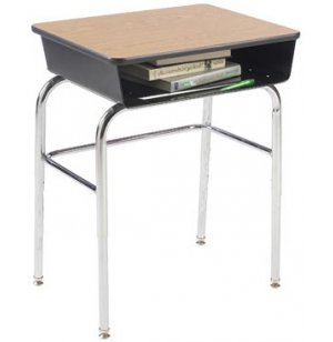 Open Front Desk - Laminate - U Brace