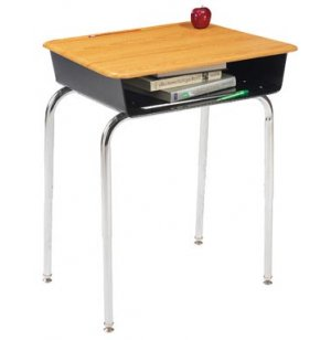 Premium Open Front School Desk - WoodStone Top