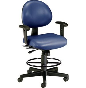 Vinyl Multi-Shift Stool with Arms