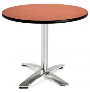 Round Flip-Top Cafe Table Dining Height