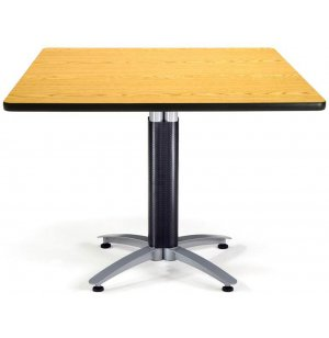 Square Cafe Table with Mesh Base