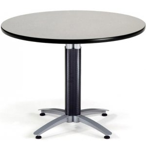 Round Cafe Table with Mesh Base Dining Height