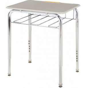 Open View School Desk w/Hard Plastic Top Adj Ht