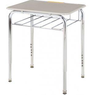 Adjustable Height Open View School Desk - Hard Plastic Top