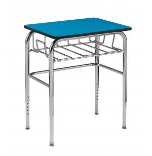 Adj. Height Open View School Desk - Laminate Top, U Brace