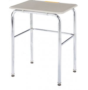 Basic School Desk - Hard Plastic Top, U Brace