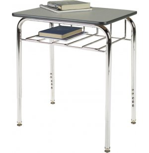 Open View School Desk w/Laminate Top U-Brace Adj Ht