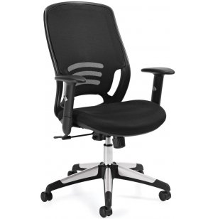 Executive High-Back Black Mesh Office Chair