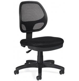 Mesh-back Armless Task Chair
