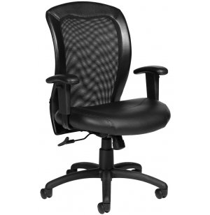 Luxhide Adjustable Mesh Back Executive Office Chair