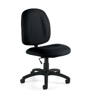 Armless Fabric Task Chair