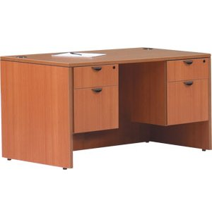 Double Pedestal Office Desk - 3/4 Pedestals
