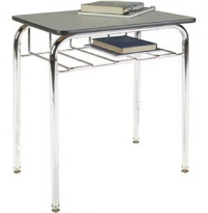 Open View School Desk - Laminate Top