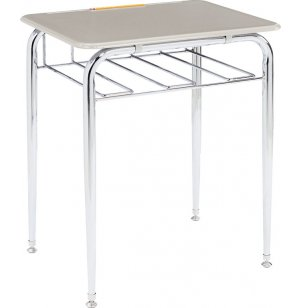 Open View School Desk - Hard Plastic Top